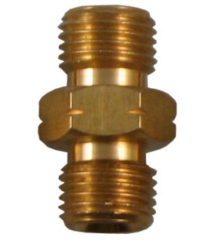 "1/4"" Male to 1/4"" Male Coupler - Left Hand"