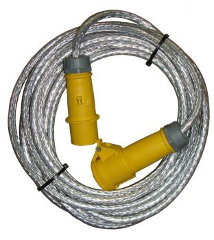 110v 16amp 10mtr Braided Extension Lead