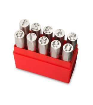 Pryor 10mm Standard Number Punch Set