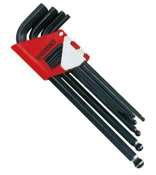 Teng Tools 1479MM 9-Piece Metric Hex Allen Key Set