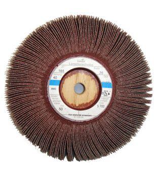 165 x 25mm x P320 Wooden Centre Flap Wheel