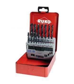 Ruko 19-Piece HSS Drill Bit Set - 1mm to 10mm (205 212)
