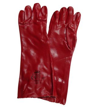 "18"" Red PVC Gauntlets"