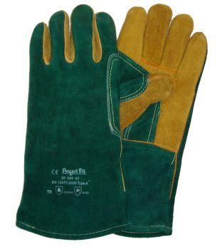 Green & Yellow Welding Gauntlets _d