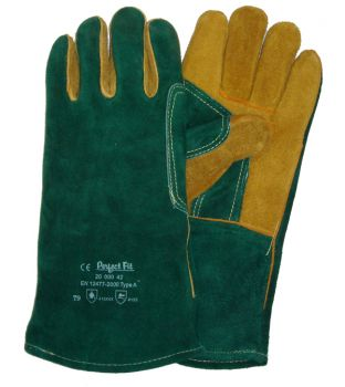 Green & Yellow Welding Gauntlets