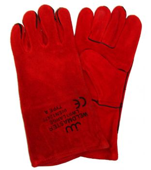 Red Welding Gauntlets