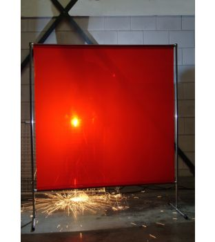 Cepro Orange Gazelle Welding Screen with Frame