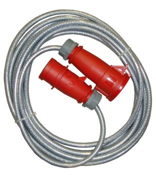 380v 32amp 10mtr Braided Extension Lead (5 Pin)