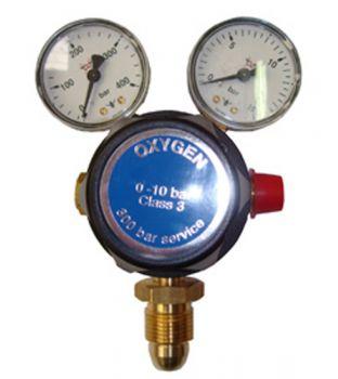 Single Stage Oxygen Regulator - Two Gauge