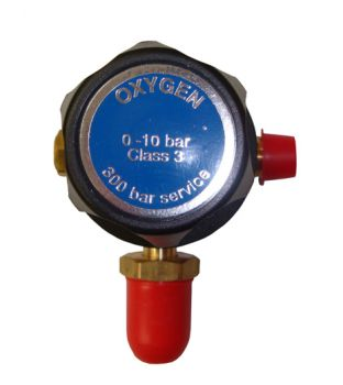 Single Stage Oxygen Regulator - Plugged