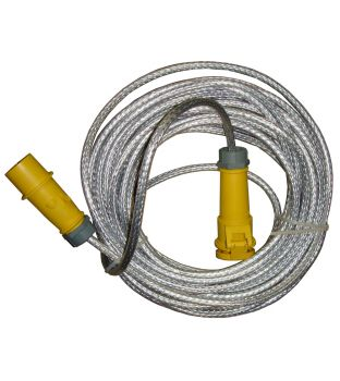 110v 16amp 25mtr Braided Extension Lead