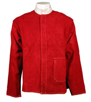 Large Red Leather Welding Jacket