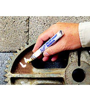 Nissen White Felt Tip Metal marker