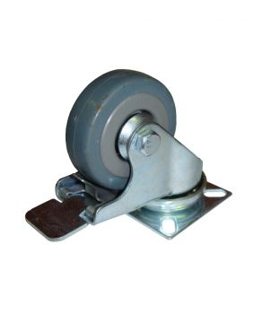 50mm Swivel-Brake Rubber Castor