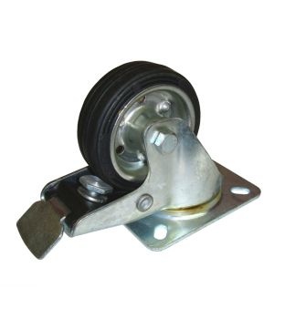 80mm Swivel-Brake Rubber Castor