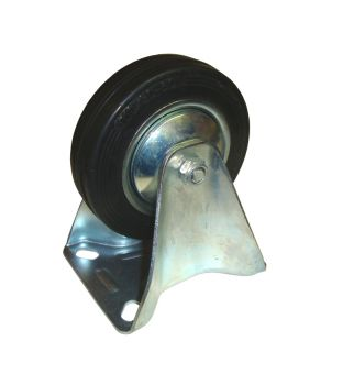 100mm Fixed Rubber Castor