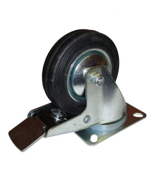 100mm Swivel-Brake Rubber Castor