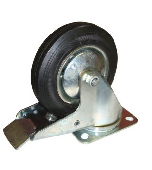 125mm Swivel-Brake Rubber Castor