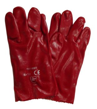 "10"" Red PVC Gauntlets"