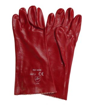 "14"" Red PVC Gauntlets"
