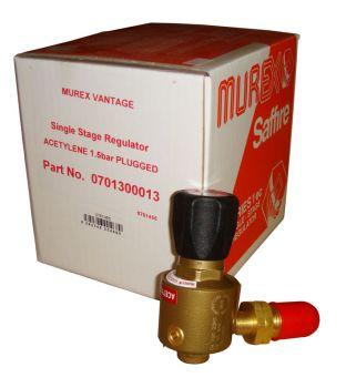 Murex Single Stage Acetylene Regulator - Plugged
