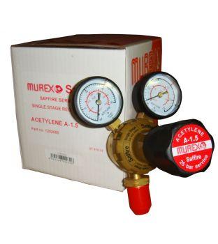 Murex Single Stage Acetylene Regulator - Two Gauge