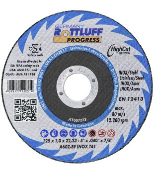 Premium Flex 115 x 6 x 22mm Stainless Steel Grinding Disc