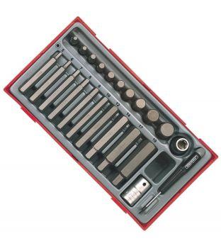 Teng Tools TTHEX23 23-Piece Metric Hex Bit Socket Set
