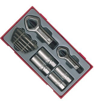 Teng Tools TTSN11 11-Piece Stud and Nut Remover Set